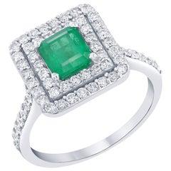 1.84 Carat Emerald Diamond Engagement Ring
