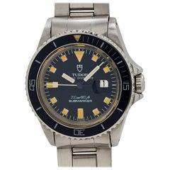 Tudor Stainless Steel Submariner Midsize Automatic Wristwatch, circa 1982