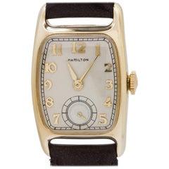 Hamilton Gold Filled Boulton Manual Wristwatch, circa 1940s