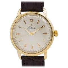 Zenith Yellow Gold Chronometer Automatic Wristwatch, circa 1958