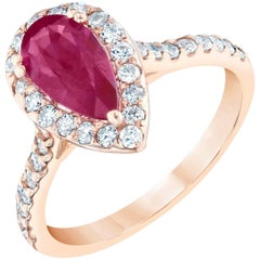GIA Certified 1.88 Carat Ruby Diamond Ring