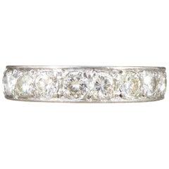 Art Deco 2 Carat Diamond Eternity Ring in 18 Carat White Gold
