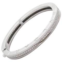 Bvlgari White Gold and Diamond Bangle