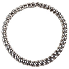 Hermès Paris Sterling Silver Necklace