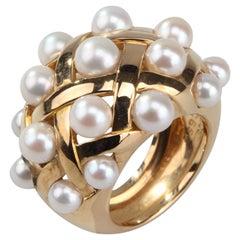 Chanel Pearl Matelasse Ring