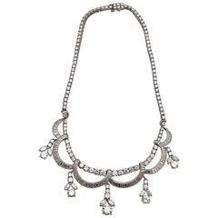 1930s Diamond Platinum Necklace