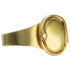 Victorian Snake Locket Gold Bangle