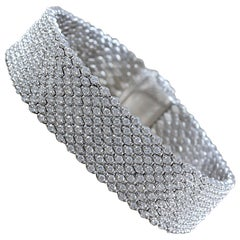 Diamond Pave Gold Flexible Bracelet