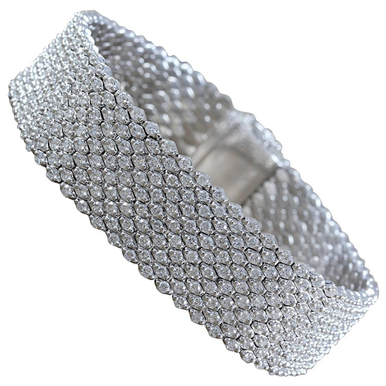 Diamond Pave Gold Flexible Bracelet