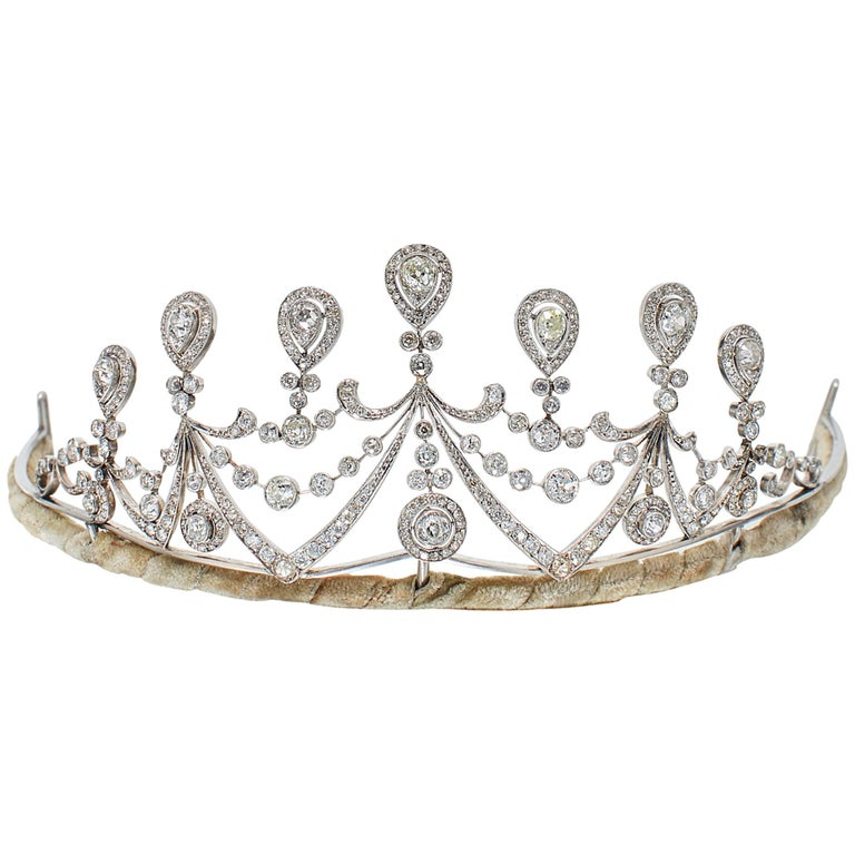 1910s Antique Diamond and Platinum Tiara