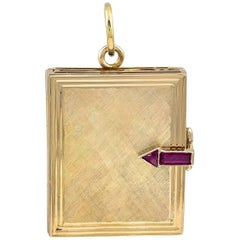 Retro Gold and Ruby Four-Picture Locket