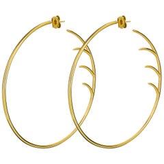 Luke Rose Hoop Earrings in Yellow Gold