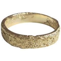 Allison Bryan Men's Paper Ring in 18 Carat Yellow Gold