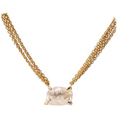 4.19 Carat Rough White Diamond Pendant Necklace