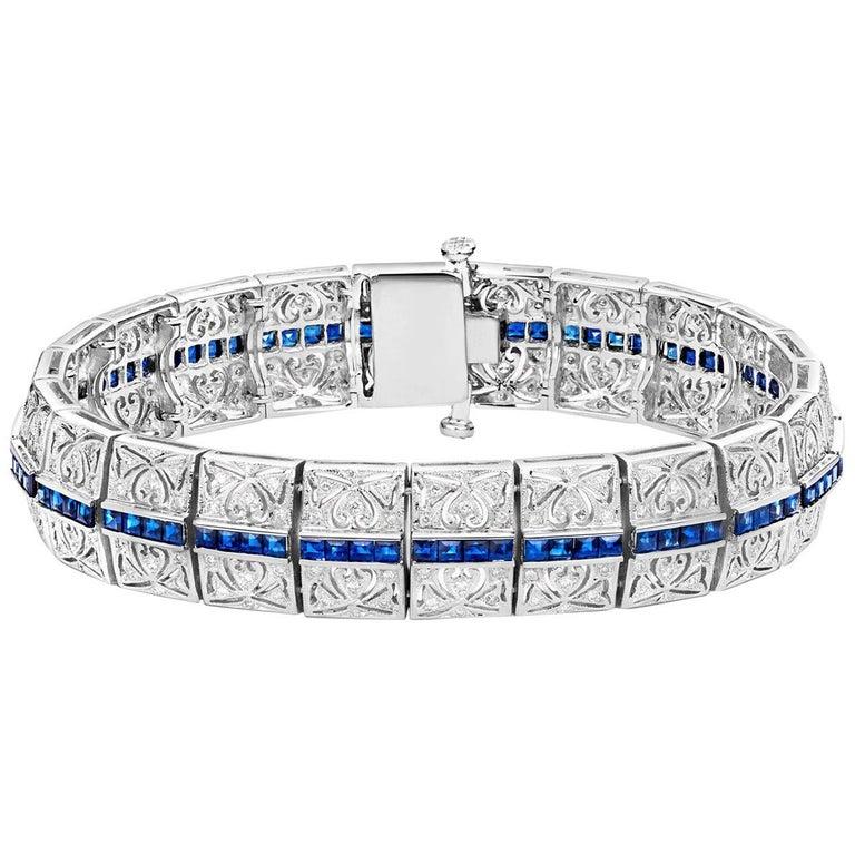 Tivon Fine Jewelry 'Versailles Collection' 18 Carat Sapphire and Diamond Cuff
