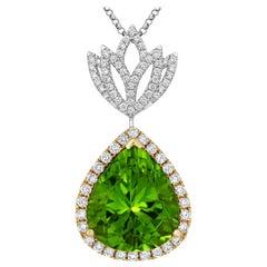 Tivon Fine Jewellery Diamond and Peridot Pendant