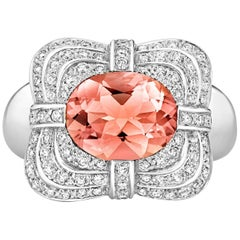 Tivon Fine Jewelry Versailles 18 Carat Gold Morganite and Diamond Ring