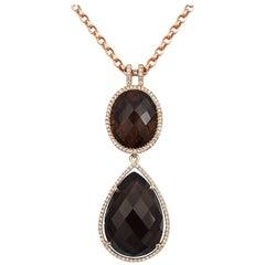Tivon Fine Jewelry Cape Town Smokey Quartz and Diamond Pendant