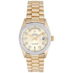 Rolex Yellow Gold Diamond President Day-Date Automatic wristwatch ref 8038