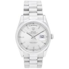 Rolex Platinum President Day-Date Wristwatch Ref 118206