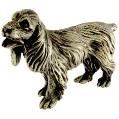 Sculpture of Dog Cocker in Silver
