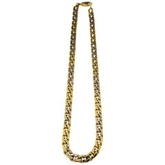 18 Karat White/Yellow Gold Chain Necklace