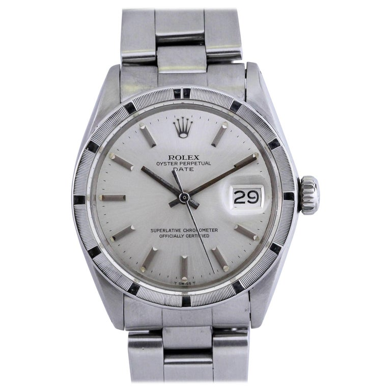 Rolex Stainless Steel Date Wristwatch Ref 1501, circa 1970 For Sale