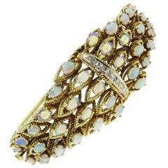 Luise Diamonds Opals Retrò Gold Bracelet