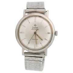 1950s Zodiac Custom Stainless Steel Wrist Watch