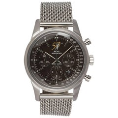 Breitling Stainless steel Ltd Ed Transocean Chronograph Automatic Wristwatch