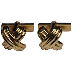 Tiffany & Co. Schlumberger Yellow Gold Cufflinks Dated 1992