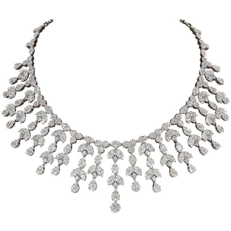 Grand Diamond Drop Necklace