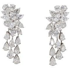 Diamond Cluster Dangle Earring