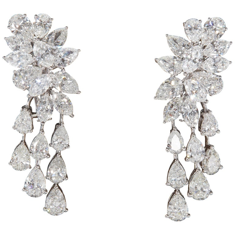 Diamond Cluster Dangle Earring
