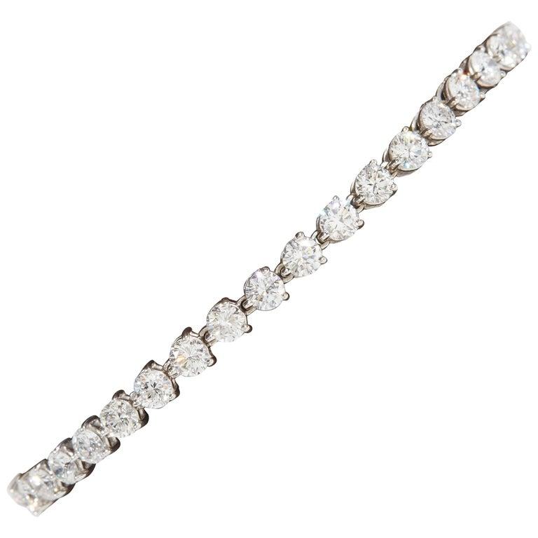 Diamond Tennis Bracelet Three Prong Setting