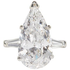 8 Carat GIA Certified Pear Shape Engagement Ring