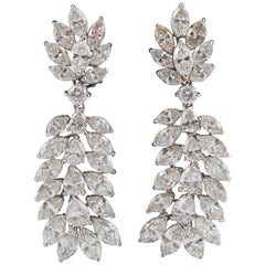 Classic Diamond Platinum Chandelier Earrings