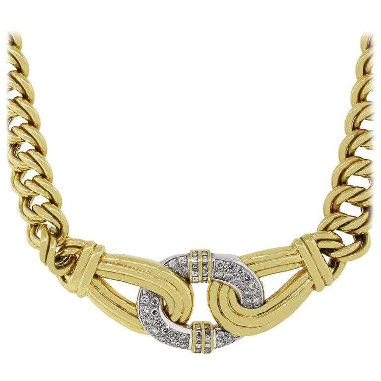 4 Carat Total Diamond Large Statement Necklace