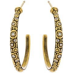 Alex Sepkus Diamond Hoop Earrings