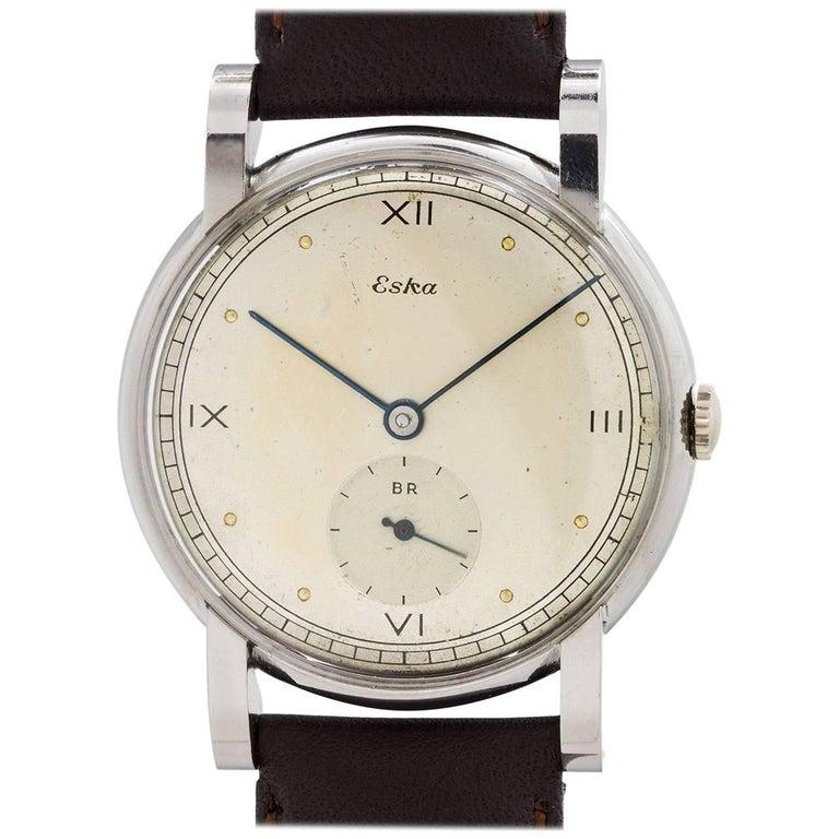 Eska stainless steel Manual Wind wristwatch, circa 1950s