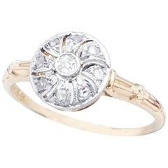 Handmade, Art Deco Pinwheel Diamond Ring