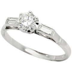 Early Brilliant Cut Vintage G VS to H SI1 Diamond Engagement Ring