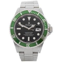 Rolex Stainless Steel Submariner Kermit Date Anniversary Automatic Wristwatch