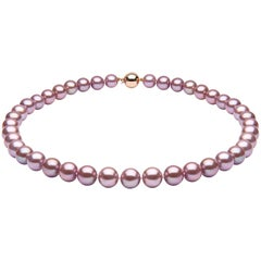 Yoko London Pink Freshwater Pearl Necklace set in 18 Karat Rose Gold