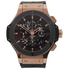 Hublot Ladies Rose Gold Big Bang Chronograph Automatic Wristwatch
