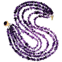 Multi-Strand Amethyst Necklace  February Birthstone