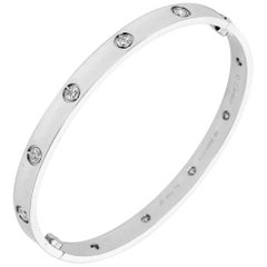Cartier 18 Karat White Gold and Diamonds Love Bracelet