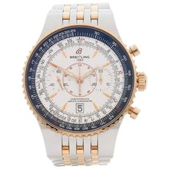 Breitling Yellow Gold Stainless Steel Montbrillant Legende Chronograph Watch