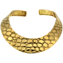Crocodile Yellow Choker