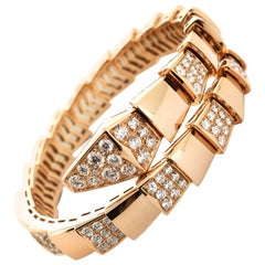 Bulgari Rose Gold Serpenti Diamond Bracelet